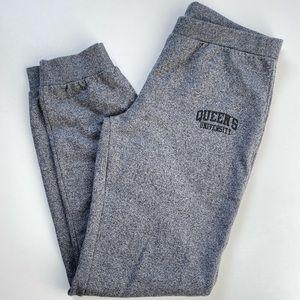 Queens University XL Grey & Black Sweat Pants